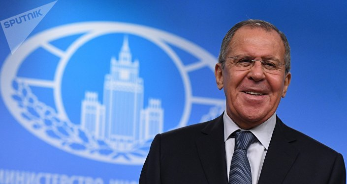 News conference with Russia's Foreign Minister Sergei Lavrov