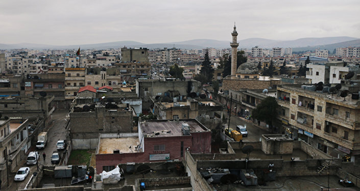A picture shows the Kurdish-majority town of Afrin in northern Syria, on January 23, 2018, as Turkish troops and their Syrian rebel allies pressed an assault on the border enclave