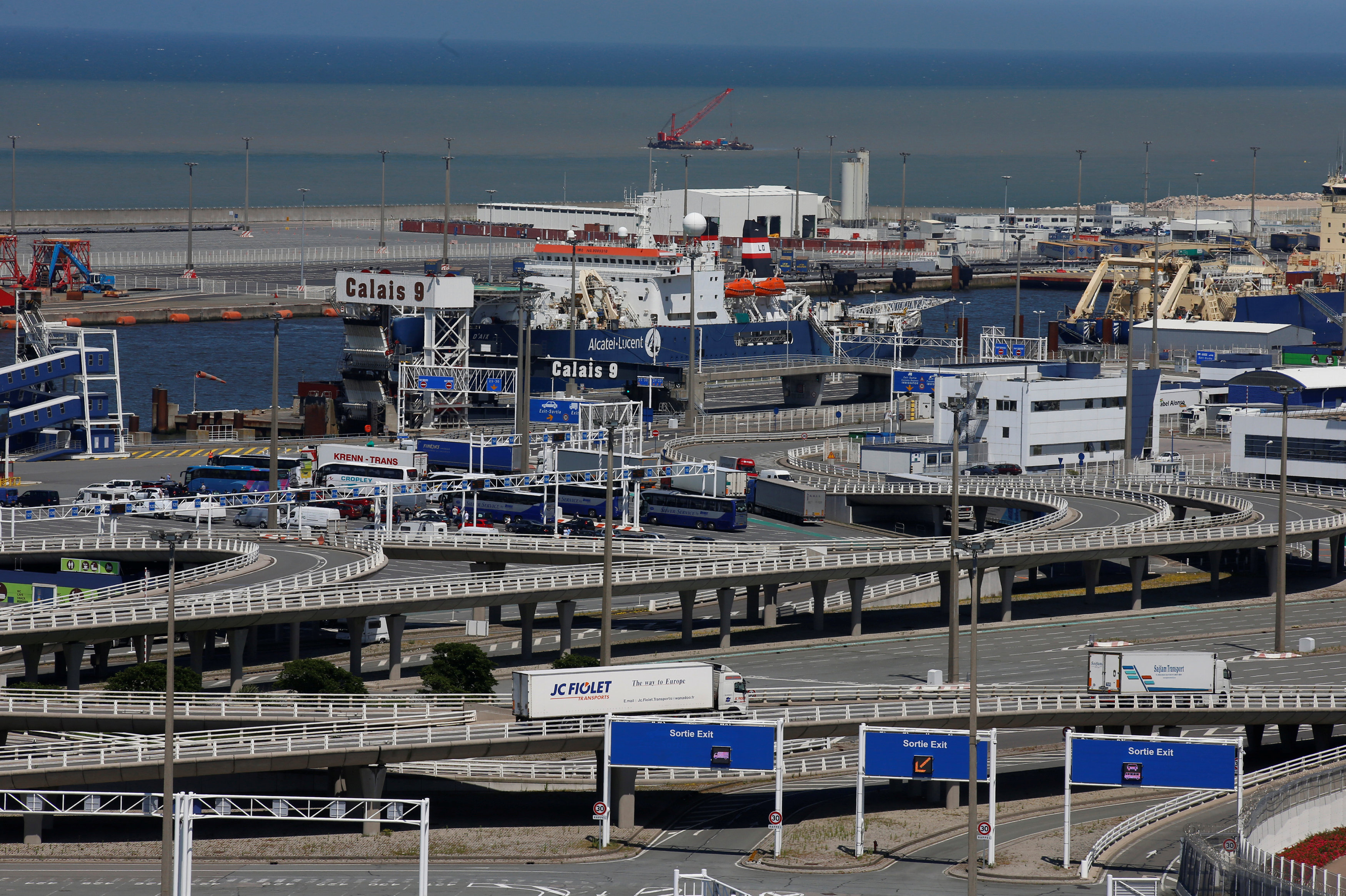 View of the port of Calais, France (File)