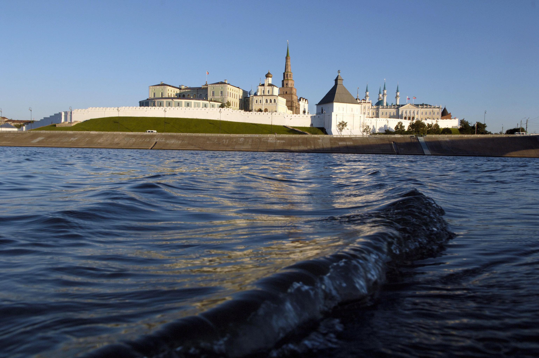 View of the Kazan kremlin from Volga Rive