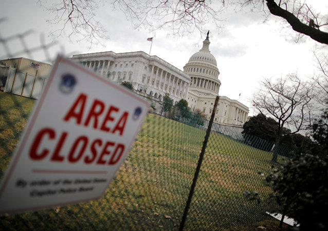 U.S. Capitol building is seen during the third day of a government shutdown in Washington, U.S. January 22, 2018