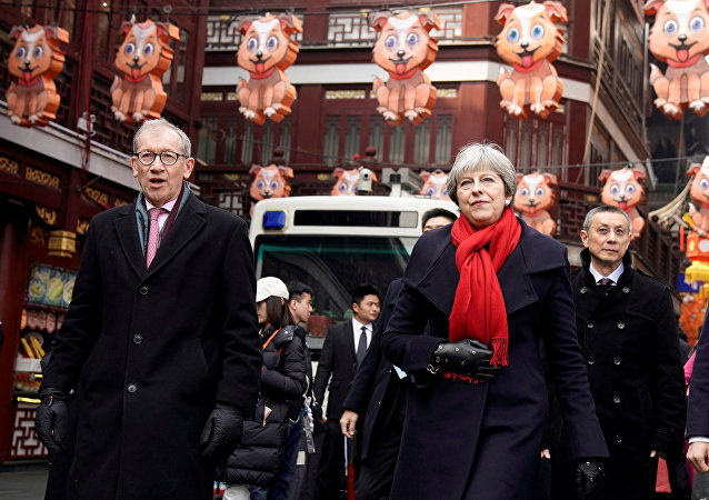 British Prime Minister Theresa May and her husband Philip visit Yu Yuan Garden in Shanghai, China February 2, 2018