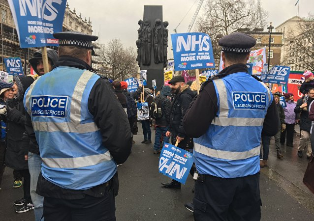 The London march in support of the National Health Service