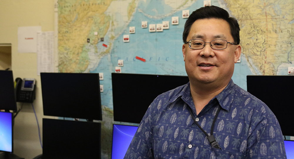 In this Feb. 1, 2018 photo, Jeffrey Wong, current operations officer for the Hawaii Emergency Management Agency, poses for a photo in Honolulu