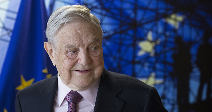 George Soros, founder and chairman of the Open Society Foundation, waits for the start of a meeting at EU headquarters in Brussels on April 27, 2017
