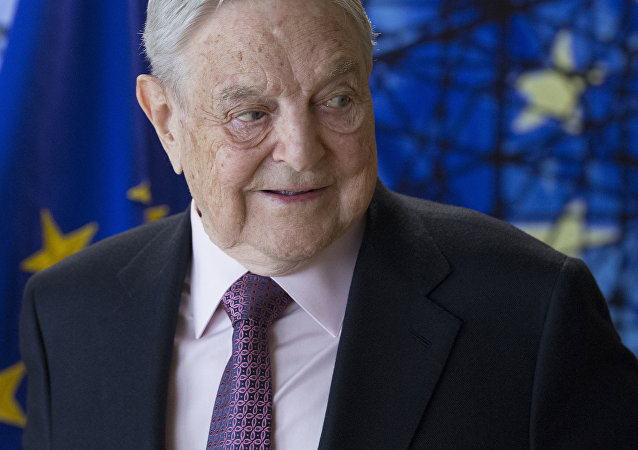 George Soros, Founder and Chairman of the Open Society Foundation, waits for the start of a meeting at EU headquarters in Brussels on Thursday, April 27, 2017