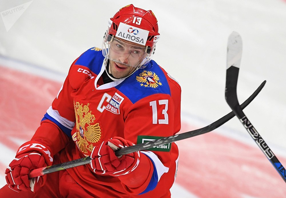 Team Russia's Pavel Datsyuk during the friendly hockey match between Team Russia and Spartak