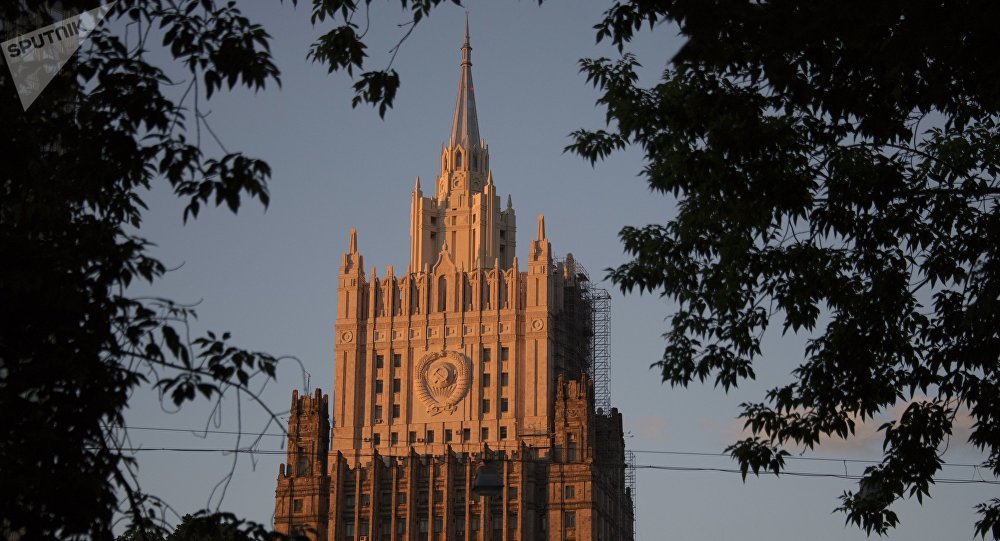 The building of the Russian Foreign Ministry in Moscow