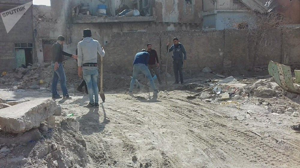 Desecrated Jewish cemetery in Mosul