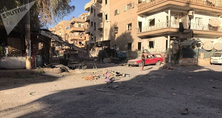 Aftermath of artillery attacks on Al-Qusur in Deir ez-Zor. File photo