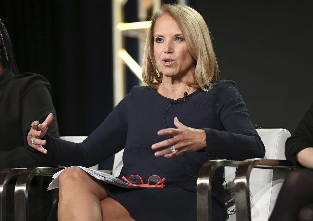 Katie Couric participates in the 'America Inside Out with Katie Kouric' panel during the National Geographic Television Critics Association Winter Press Tour on Saturday, Jan. 13, 2018, in Pasadena, Calif.