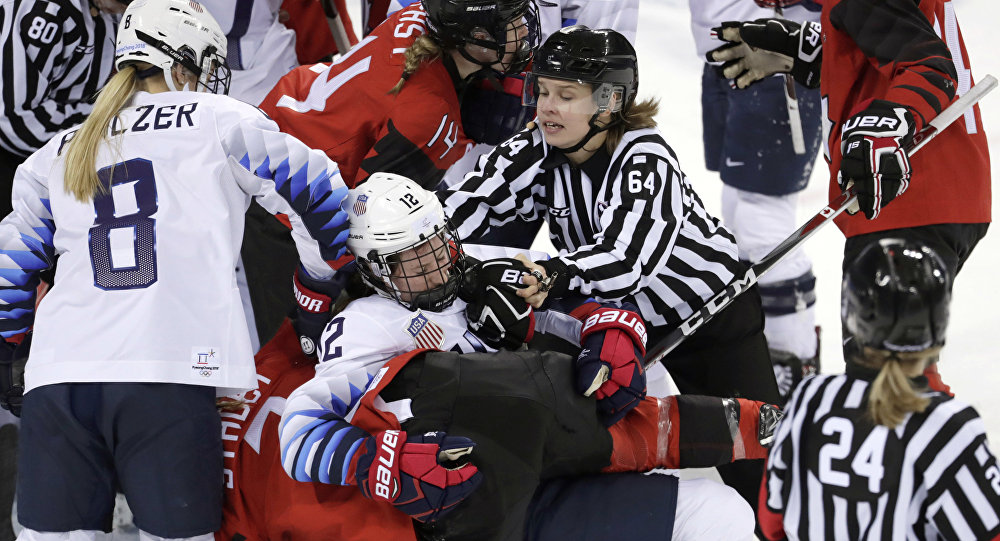8c4ad44e6d1 USA Vs Canada Olympic Women s Hockey Game Ends With a Brawl (VIDEO ...