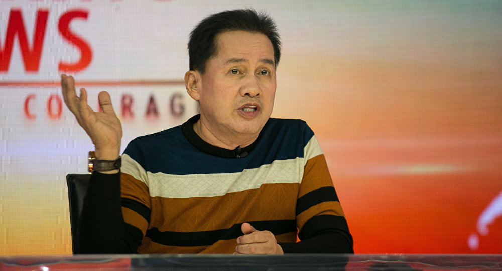 Apollo Quiboloy, head of the Kingdom of Jesus Christ, a non-Catholic religious group and spiritual adviser of president-elect Rodrigo Duterte, speaks during a press conference in Davao City in southern island of Mindanao. (File)