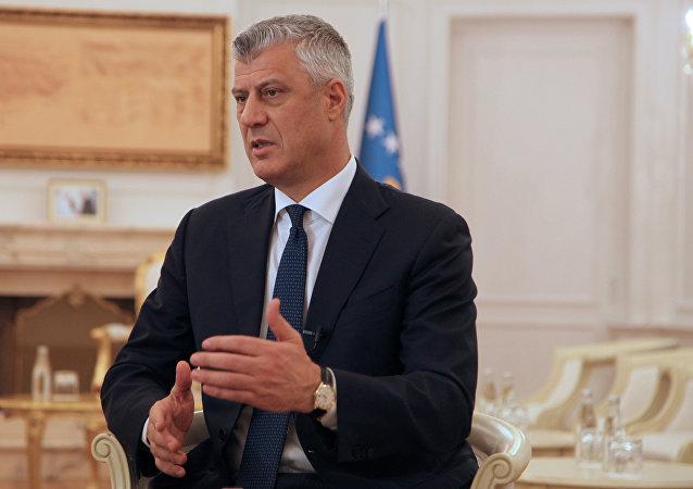 Kosovo's President Hashim Thaci