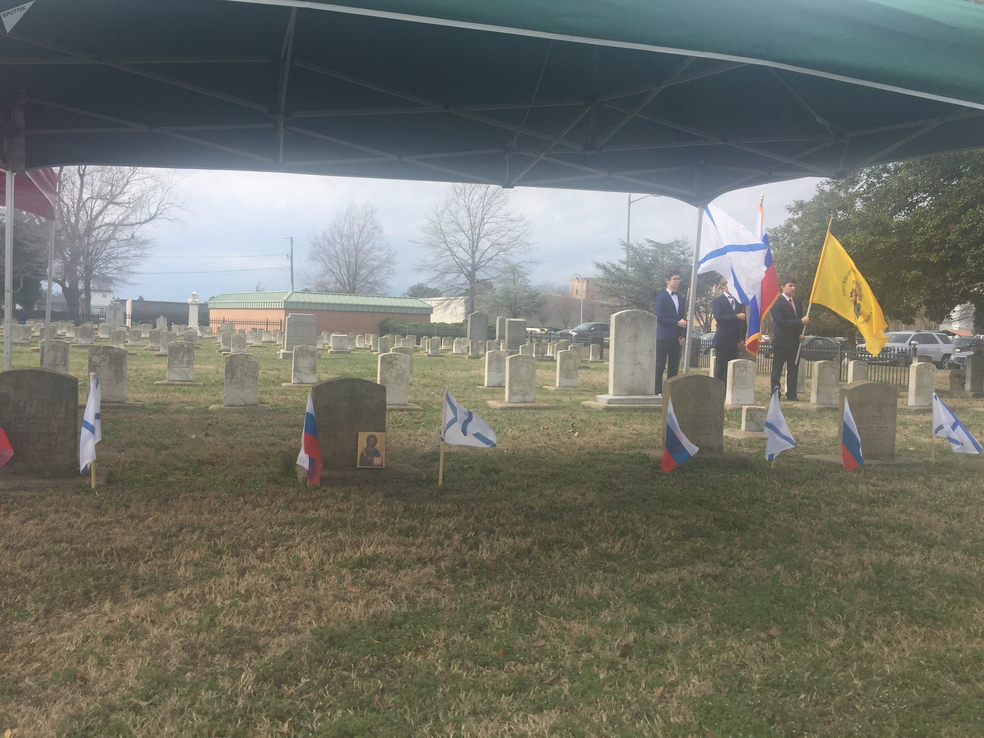Memorial event in honor of six Russian Navy sailors who buried at the US Naval Hospital Cemetery in Portsmouth, Virginia