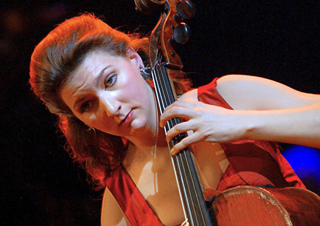 This file photo taken on February 27, 2003 shows French cellist Ophelie Gaillard performing after being awarded the Victoire de la Musique Classique for best soloist