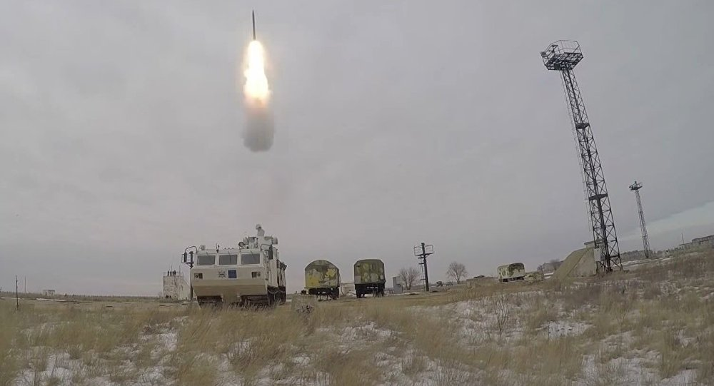 Tor-M2DT missile system test launch