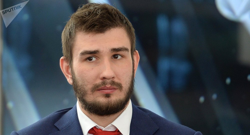Russian national team member Vyacheslav Voinov at a presentation of the roster for the IIHF Ice Hockey World Championship. (File)