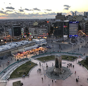 (File) A view of Taksim Square in central Istanbul Monday, July 10, 2017