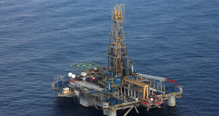 The Homer Ferrington gas drilling rig, operated by Noble Energy and drilling in an offshore block on concession from the Cypriot government, is seen during President Demetris Christofias' visit in the east Mediterranean, Nicosia November 21, 2011