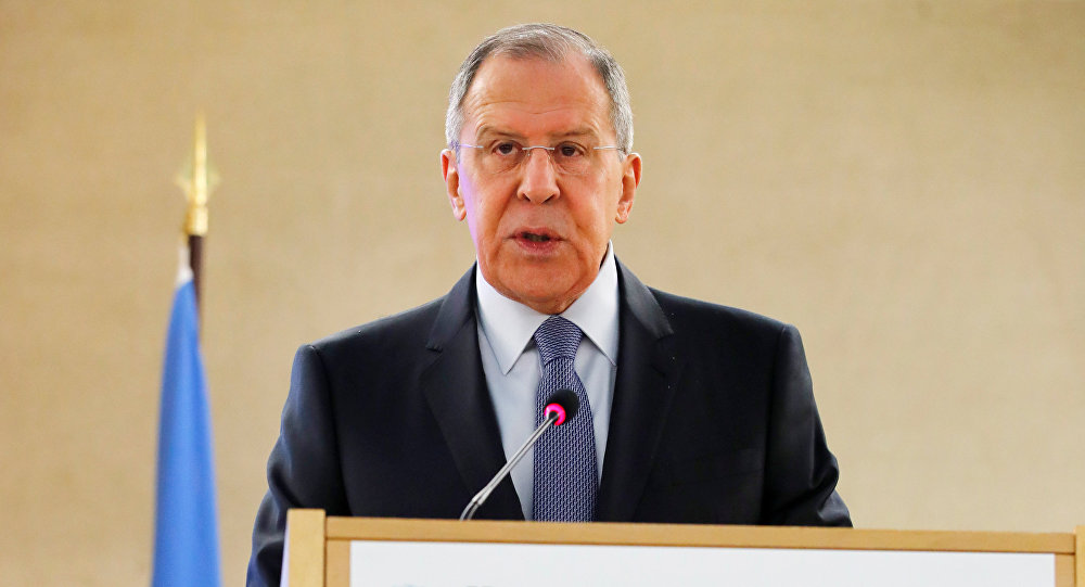 Sergey Lavrov, Minister for Foreign Affairs of Russia, attends the Human Rights Council at the United Nations in Geneva, Switzerland, February 28, 2018