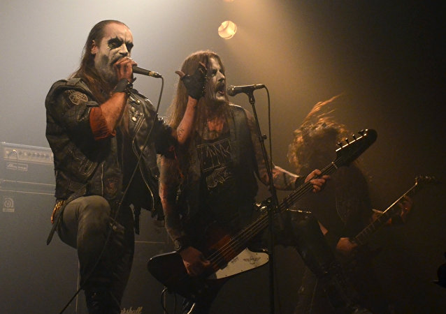 Taake, performing at the Throne Fest 2016, the 15th of May 2016 in Kuurne
