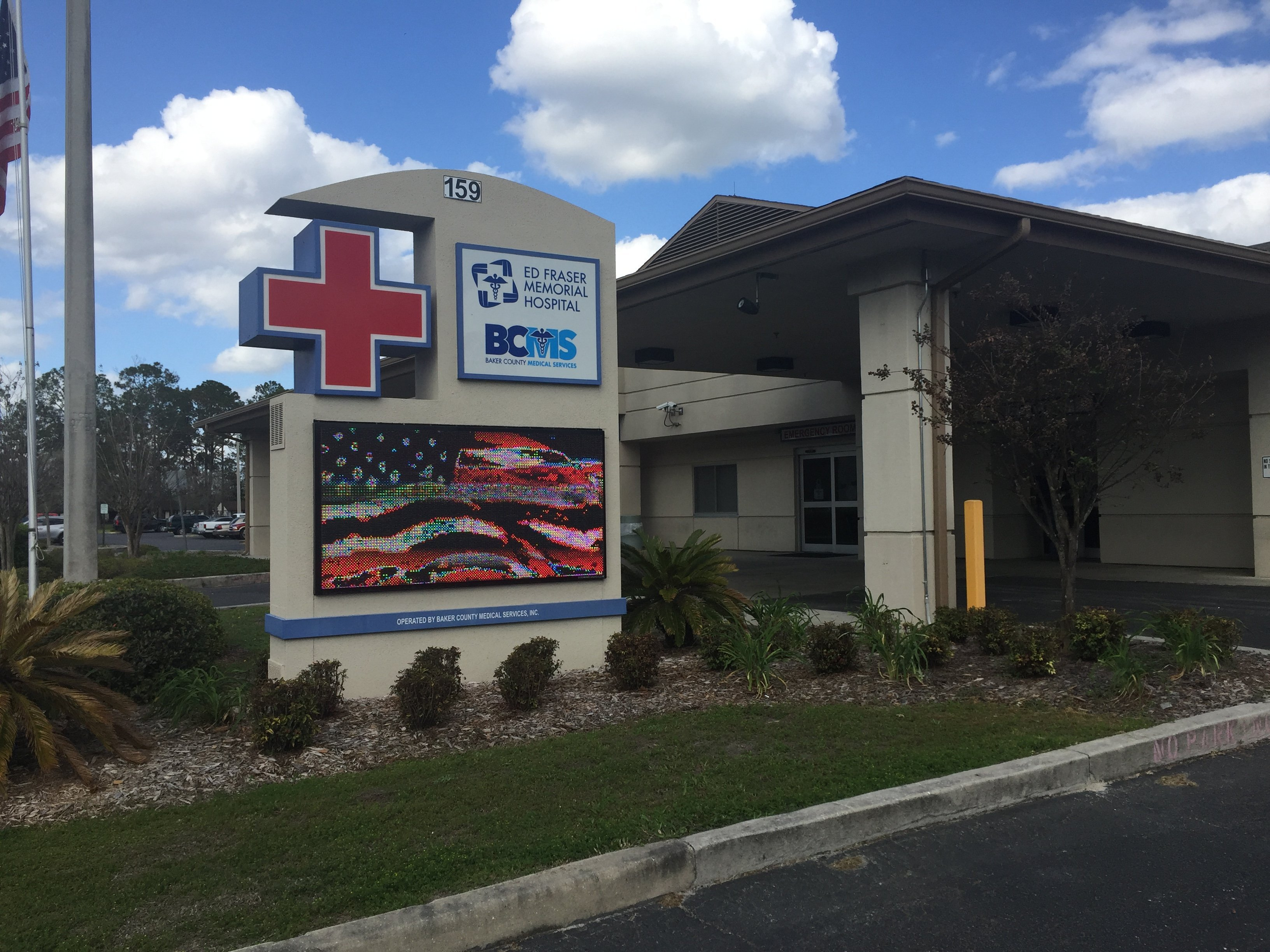 The Ed Fraser Memorial Hospital named after Gardner Kent Fraser's Great Grandfather in Macclenny, Florida