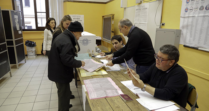 Polling operations begin in Rome, Sunday, March 4, 2018. An election in Italy on Sunday will determine the makeup of the nation's Parliament and its next government