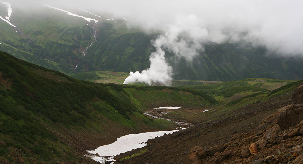 Geothermal generation station on Kamchatka