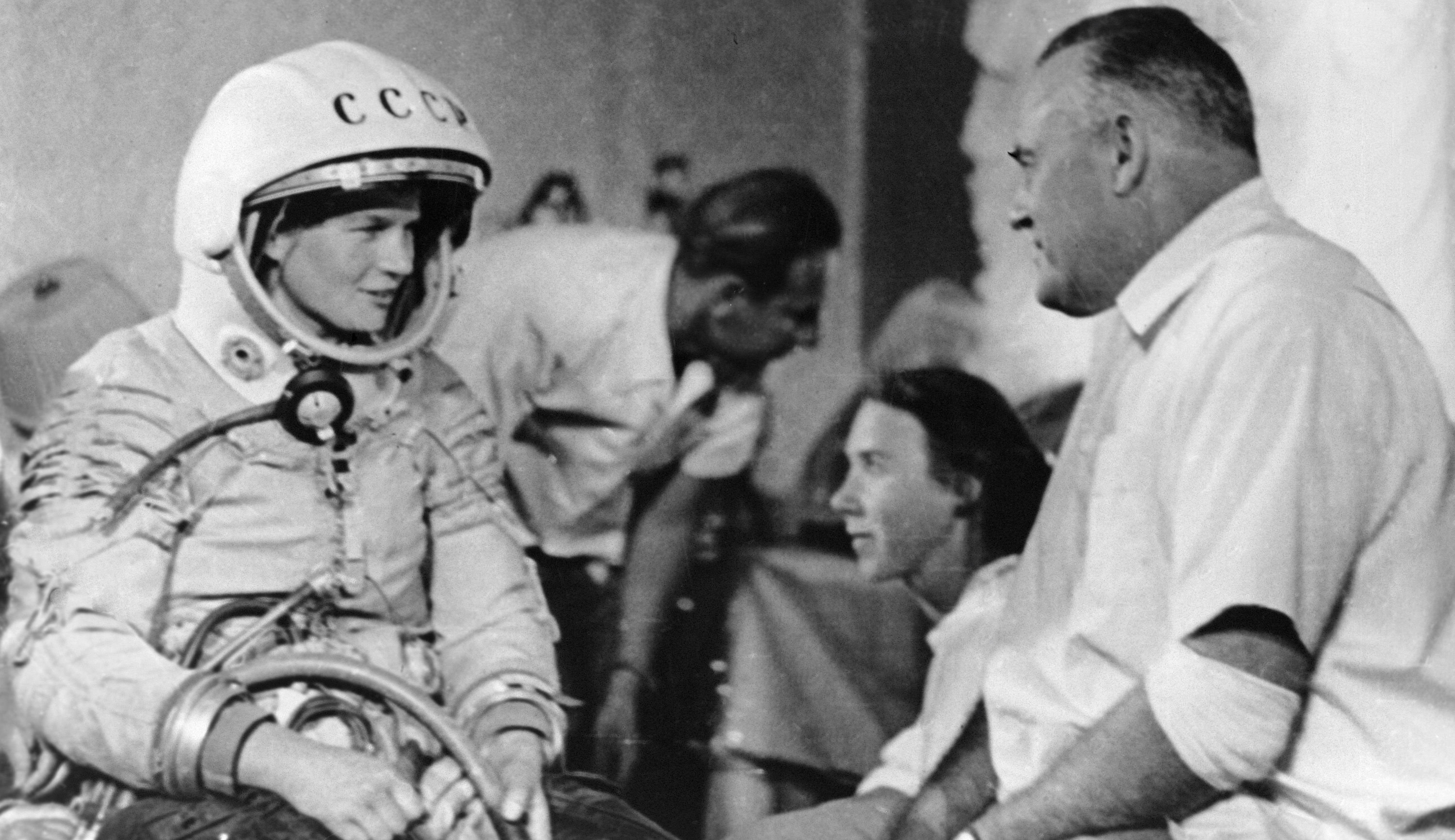 Valentina Tereshkova and Soviet rocket scientist Sergei Korolev.