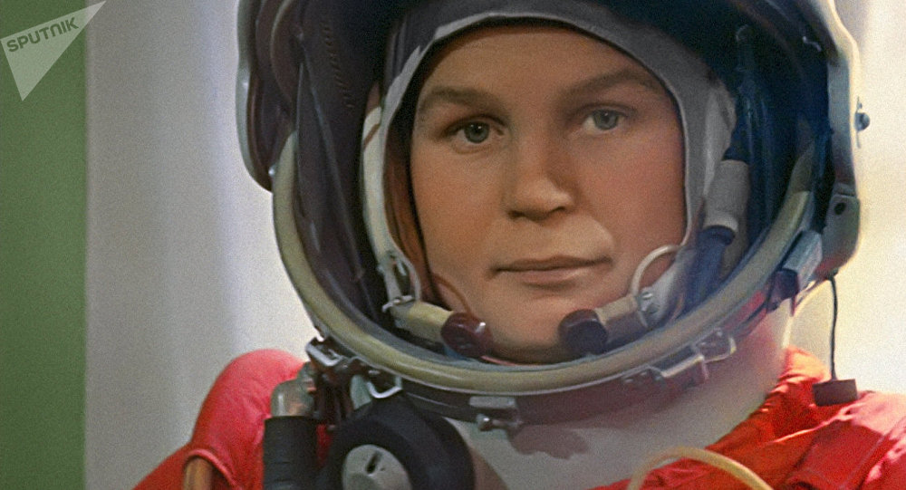 Pilot-Cosmonaut Valentina Tereshkova before lift-off