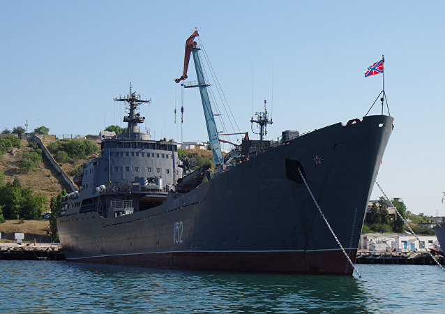 The Black Sea Fleet's landing craft Nikolai Filchenkov in Sevastopol