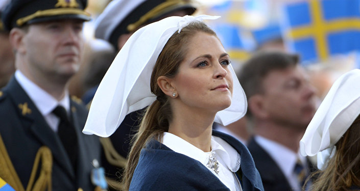 Sweden's Princess Madeleine attends the official National Day of Sweden celebrations at the Skansen open-air museum in Stockholm, Sweden, June 6, 2016
