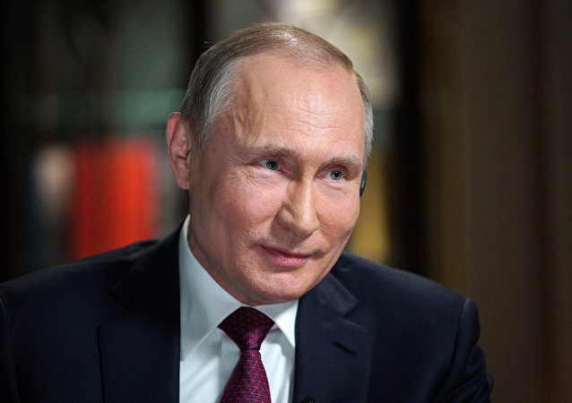 Russian President Vladimir Putin during his interview with NBC.