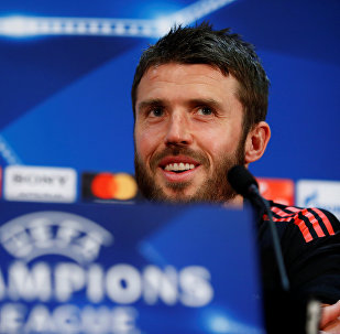Soccer Football - Champions League - Manchester United Press Conference - Old Trafford, Manchester, Britain - March 12, 2018 Manchester United's Michael Carrick during the press conference