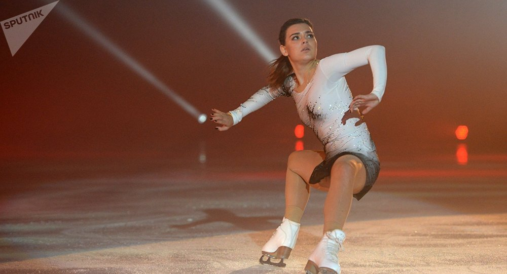Adelina Sotnikova performs at Ilya Averbukh's Ice Age show at Iceberg Skating Palace in Sochi
