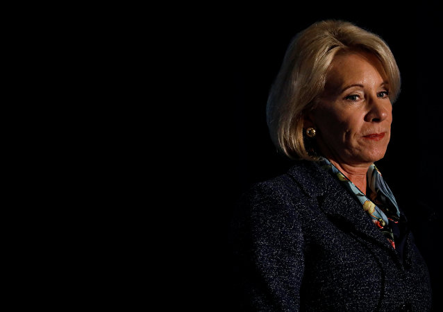 Secretary of Education Betsy DeVos delivers remarks about administration efforts to increase school safety at The National Parent-Teacher Association Legislative Conference in Arlington, VA, March 13, 2018.
