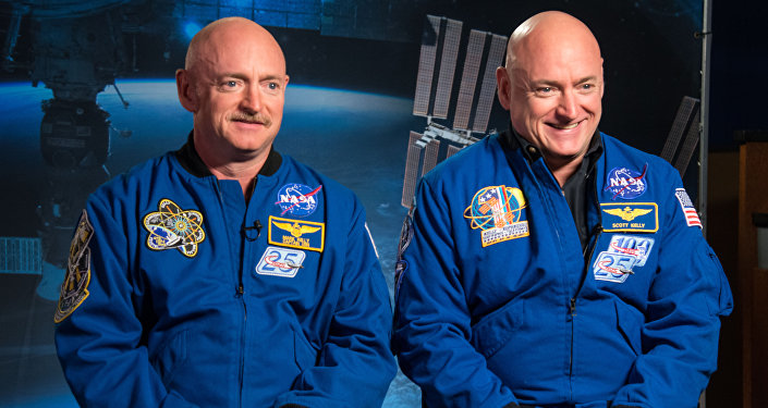 Identical twin astronauts, Scott and Mark Kelly, are subjects of NASA's Twins Study. Scott (right) spent a year in space while Mark (left) stayed on Earth as a control subject. Researchers looked at the effects of space travel on the human body
