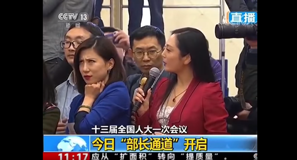 Reporter's Eye Roll at Beijing's Two Sessions Goes Viral