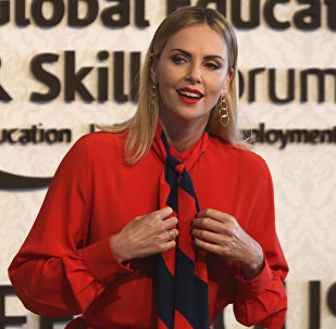 Actress Charlize Theron speaks at an event at the Global Education and Skills Forum in Dubai, United Arab Emirates, Saturday, March 17, 2018