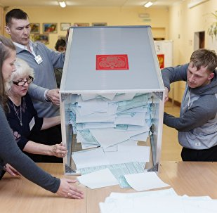 Votes counted at Russian presidential elections