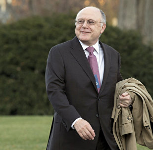 Pfizer Inc. CEO Ian Read arrives at the White House