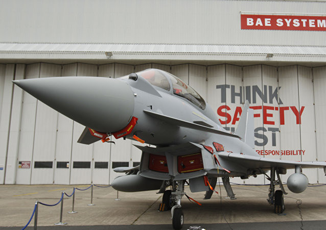 This is a Sept. 7, 2012 file photo of a Eurofighter Typhoon at BAE Systems, Warton Aerodrome, near Warton northwest England