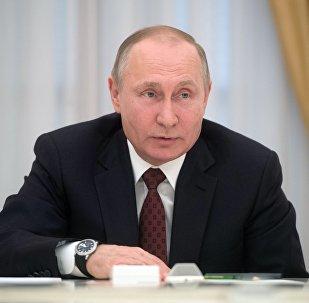 Президент РФ В. Путин встретился с кандидатами на должность президента РФ
