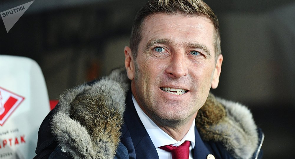 Spartak's head coach Massimo Carrera