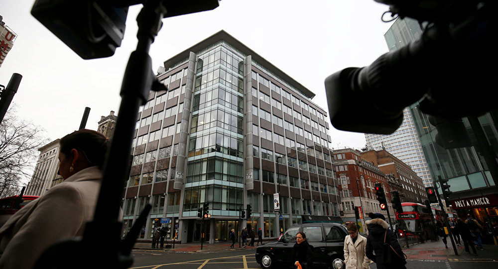 Cameras are trained on the the building housing the offices of Cambridge Analytica in central London, Britain, March 20, 2018
