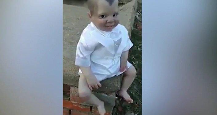 Creepy doll on mexican graveyard