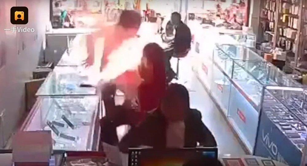 china phone explosion