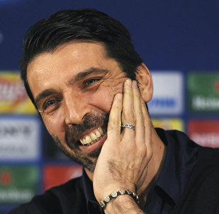 Juventus goalkeeper Gianluigi Buffon smiles during a news conference at the Dragao stadium in Porto, Portugal. (File)