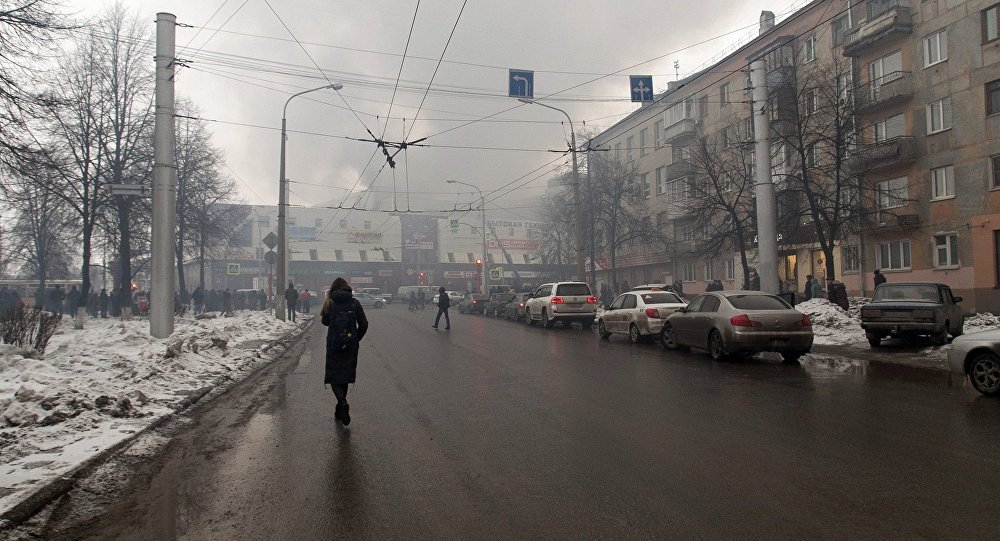 Fire in a shopping center in Russia's city of Kemerovo